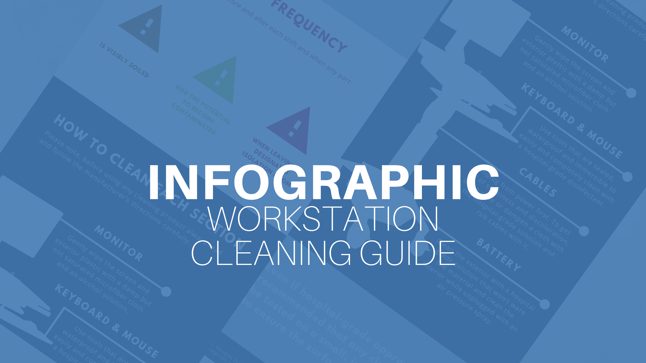 Infographic workstation cleaning guide