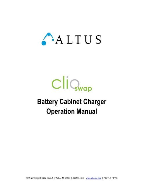 Batterycabinetchargermanual