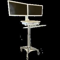 H8-2 Lightweight Dual Monitor Cart